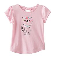 Toddler Girl Jumping Beans® Bow Back Glitter Graphic Tee
