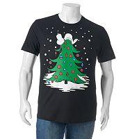 Big & Tall Peanuts Snoopy Christmas Tree Tee