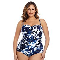 Plus Size Great Lengths Body Sculptor Floral One-Piece Swimsuit