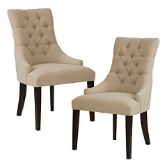 Madison Park Fenton Button Tufted Dining Chair 2-piece Set by