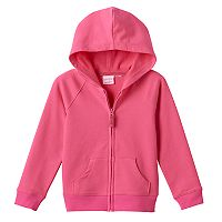 Girls 4-10 Jumping Beans® Solid Zip-Front Hoodie