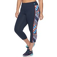 Plus Size FILA SPORT® Heritage Chevron Crop Workout Leggings