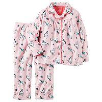 Toddler Girl Carter's Button-Down Top & Bottoms Pajama Set