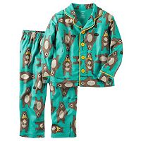 Toddler Boy Carter's Button-Down Top & Bottoms Pajama Set