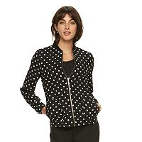 Women's ELLEª Polka-Dot Bomber Jacket