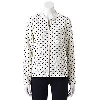 Women's ELLEª Polka-Dot Bomber Jacket