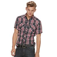 Men's Rock & Republic Plaid Woven Button-Down Shirt