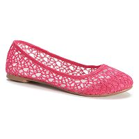 SO® Women's Lace Ballet Flats