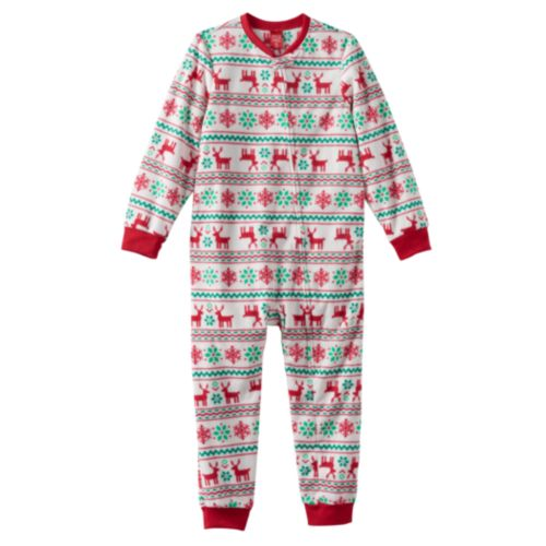 Jammies For Your Families Kids Reindeer One-Piece Pajamas