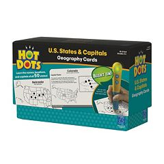 Educational Insights Hot Dots Geography Cards U.S. States & Capitals