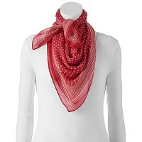 Chaps Dots & Stripes Square Scarf