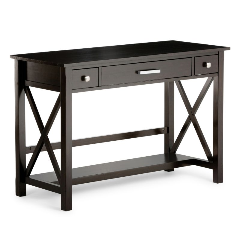 Simpli Home Contemporary Desk, Brown thumbnail