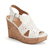 SO® Women's Woven Wedge Sandals