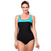 Women's Reebok Sugarcoat Colorblock One-Piece Swimsuit