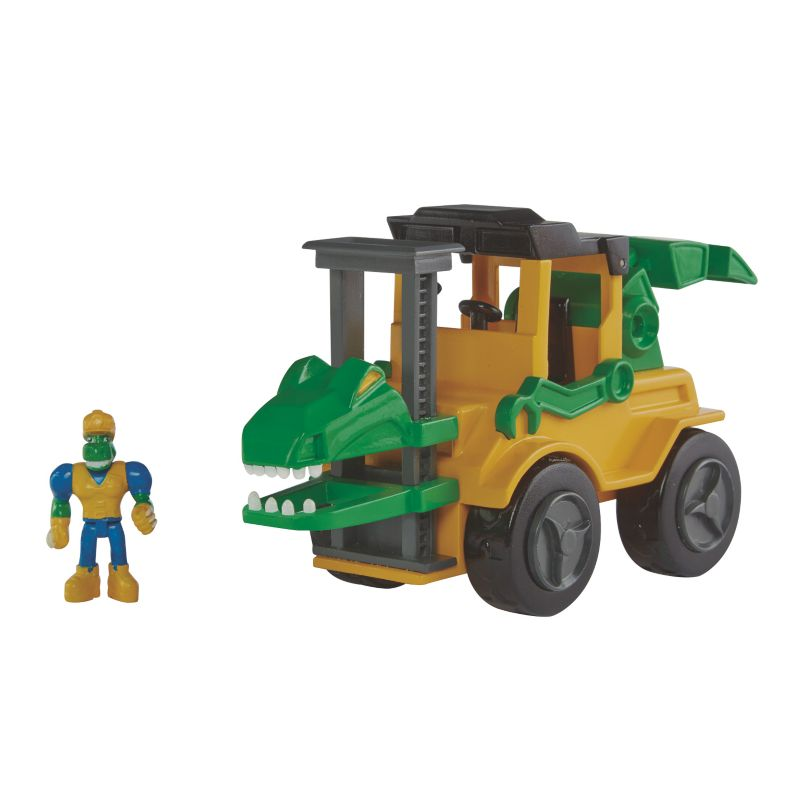 Educational Insights Dino Construction Company Snap The Velociraptor Forklift, Multicolor thumbnail