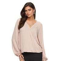 Women's Jennifer Lopez Crisscross Surplice Top