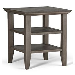 Simpli Home Acadian Distressed End Table by