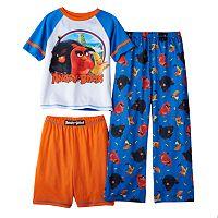 Boys 4-10 Angry Birds 3-Piece Pajama Set