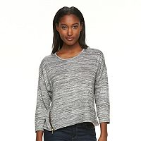 Women's Alex & Parker Drop-Shoulder Zipper Tee