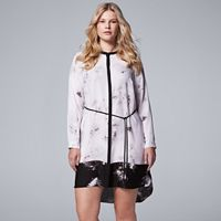 Plus Size Simply Vera Vera Wang Marble Shirtdress