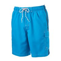 Men's SONOMA Goods for Life™ Side-Striped Microfiber Swim Trunks
