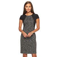 Women's Suite 7 Space-Dye Striped Sheath Dress