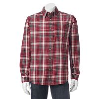 Men's Woolrich Red Creek Classic-Fit Plaid Button-Down Shirt