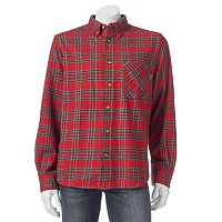 Men's Woolrich Classic-Fit Plaid Flannel Button-Down Shirt