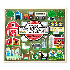 Melissa & Doug Wooden Farm & Tractor Play Set by