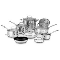 Cuisinart Chef's Classic Stainless Steel 14-pc. Cookware Set