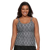 Plus Size Croft & Barrow® Tummy Slimmer D-Cup Tankini Top