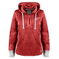 Women's Old Time Hockey Detroit Red Wings Annabelle Quarter-Zip Hoodie