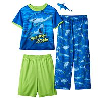 Boys 4-12 Up-Late Shark 3-Piece Pajama Set