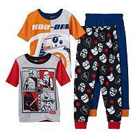 Boys 6-12 Star Wars BB-8 4-Piece Pajama Set