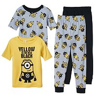 Boys 4-10 Despicable Me Minions 4-Piece Pajama Set