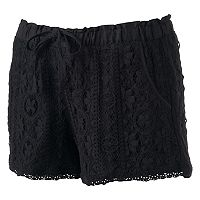 Juniors' Rewind Lace Shorts