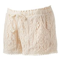 Juniors' Rewind Lace Shorts