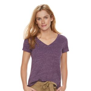 Women's SONOMA Goods for Life™ Essential Marled V-Neck Tee