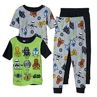 Boys 6-12 Star Wars 4-Piece Pajamas Set