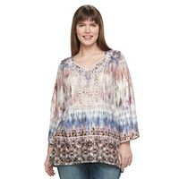 Plus Size World Unity Crochet Sublimation Top