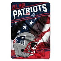 New England Patriots Stagger Microfleece Oversized Throw by Northwest
