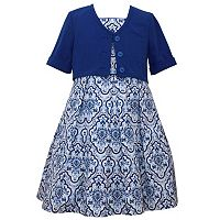 Girls 7-16 Bonnie Jean Ikat Dress & Cardigan Set