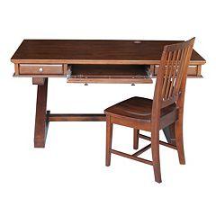 International Concepts Zodiac Espresso Desk & Office Chair 2-piece Set