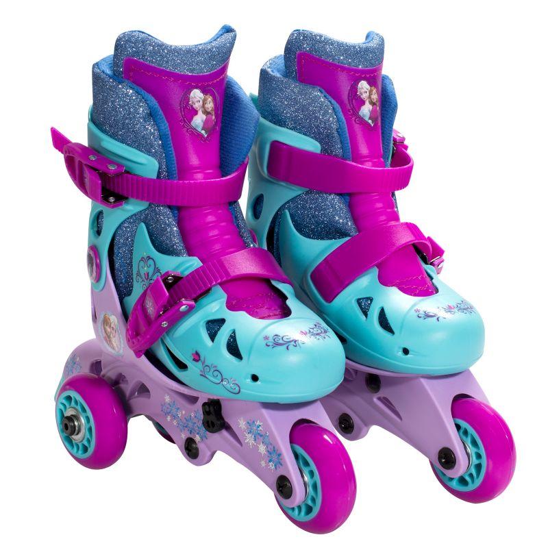 Disney's Frozen Anna & Elsa 2-in-1 Convertible Roller Skates by Playwheels, Blue thumbnail