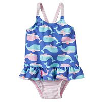Baby Girl Carter's Whale & Stripe One-Piece Swimsuit