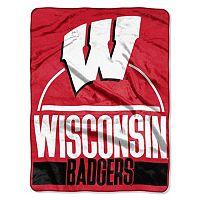 Wisconsin Badgers Keepsake Silk-Touch Throw by Northwest