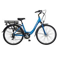 Hollandia Evado 7 Electric City 18-Inch Blue Commuter Bicycle