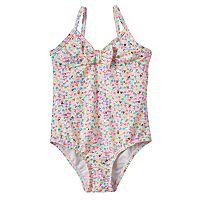 Baby Girl OshKosh B'gosh® Foiled Heart One-Piece Swimsuit