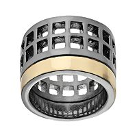 REED Two Tone Geometric Openwork Ring