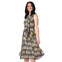 Women's ILE New York Geometric Midi Dress